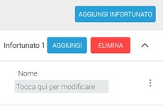 Screenshot SCHEDA PREPOSTO RILEVAMENTO INFORTUNI E MANCATI INCIDENTI