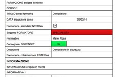 Screenshot CHECK LIST CONTROLLO DEMOLIZIONI IN CANTIERE CON iAUDITOR